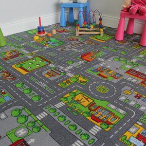 TAPIS DE JEU Tapis de jeu enfant - Ville, Rues, Circuit de Rout