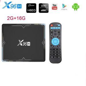 BOX MULTIMEDIA x96h TV BOX android 9.0 Allwinner H603 6K prend en