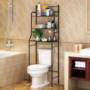 COLONNE - ARMOIRE SDB Meuble Dessus Toilette Wc en Fer Étagère de Rangme