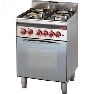 CUISINIÈRE - PIANO Piano de cuisson à gaz 4 brûleurs - four à gaz gri