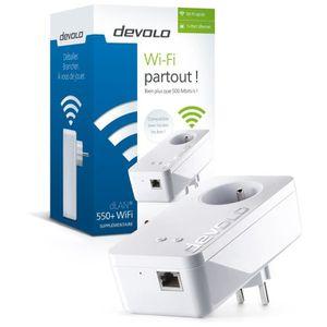 COURANT PORTEUR - CPL DEVOLO CPL Wi-Fi 500 Mbit/s Modèle dLAN 550+ 9827