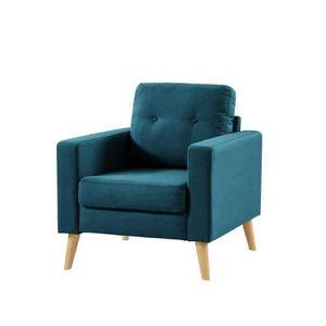 FAUTEUIL IBRA Fauteuil - Tissu bleu - Scandinave - L 80 x P