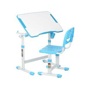 TABLE ET CHAISE Ikayaa Enfant Table chaise Ensemble Bleu réglable