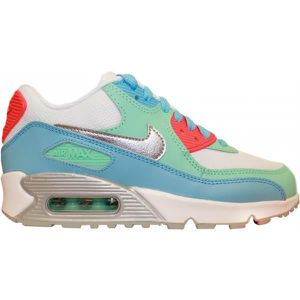 BASKET NIKE AIR MAX 90 MESH JUNIOR BLANC