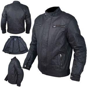 BLOUSON - VESTE Textile Blouson Protections CE Coton Ciré Moto Spo