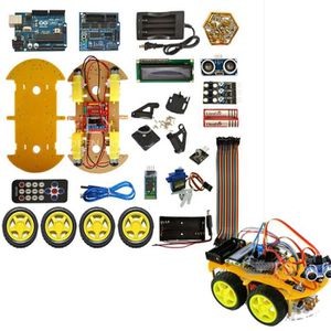 Uno Robot Car Kit Bluetooth Chassis Suit Uno R3 Diy Rc