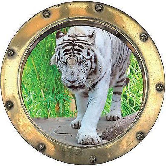 Sticker trompe l/'oeil déco Galets réf:hublot 1103