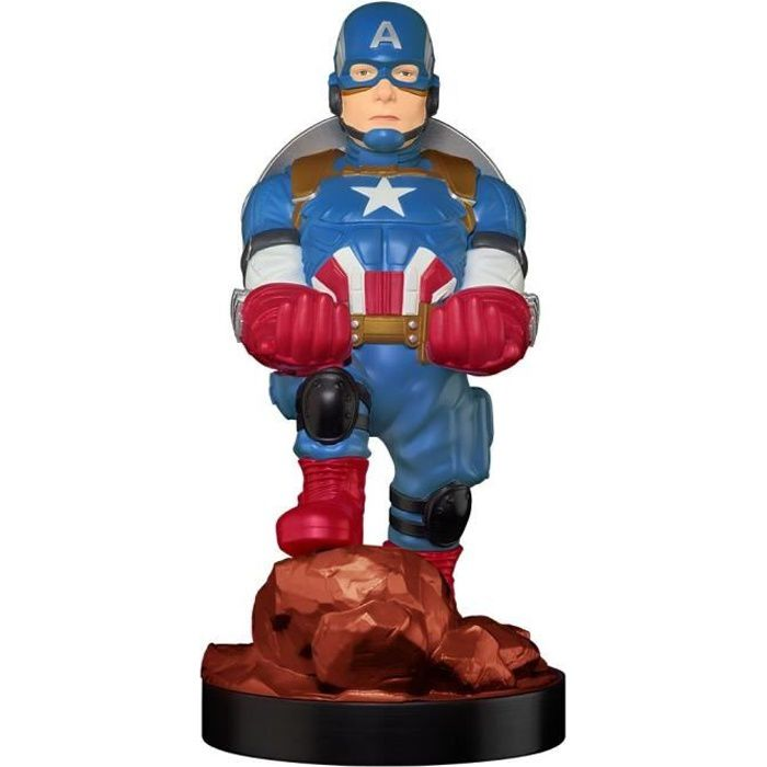Figurine Captain America - Support & Chargeur pour Manette et Smartphone - Exquisite Gaming