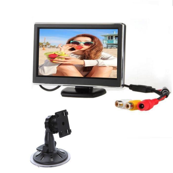 Autoradio 4,3 pouces TFT LCD Moniteur Auto inverse Parking Moniteur avec rétro-éclairage LED Display pour GPS Caméra arrière DVD de