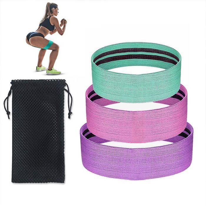 Élastique De Résistance Lot De 3 Bande Résistance Loop 3 Pack Pour Yoga Pilates Fitness Squat Entrainement Fessiers Corps Jambes