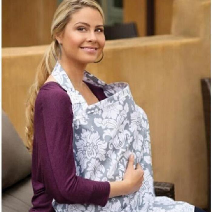 Tablier Couvertures d'Allaitement, 100% Naturel Coton Doux, Nursing Cover, Housse d'allaitement, Cape d'allaitement (Silver Manor)