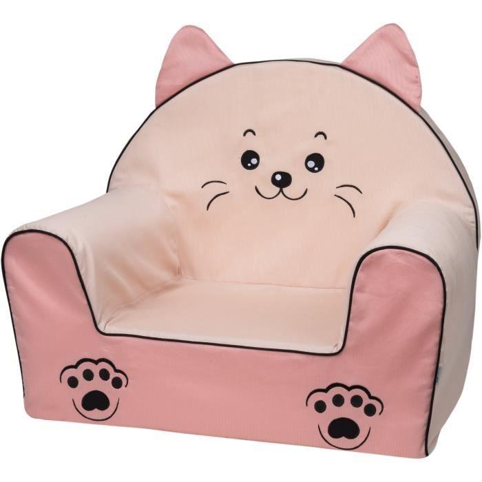 Bubaba - Fauteuil pour enfant, 12 designs différents, mousse résistante - super léger 1kg, fabriqué en UE, Modèle:Sweet Kitty