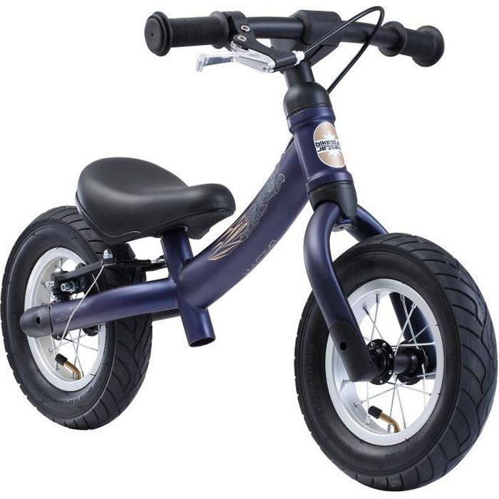 BIKESTAR - Draisienne - 10 pouces - pour enfants de 2-3 ans - Edition Sport 2-en-1 - garçons et filles - Bleu foncé
