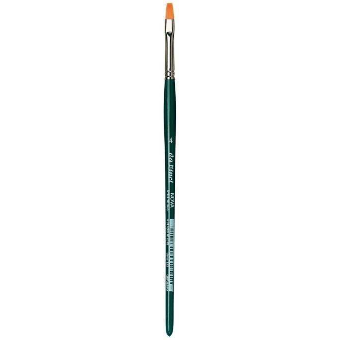 Pinceaux da Vinci Nova - Serie 122 - Brosse en Fibres synthétiques, Ligne School et Hobby - Taille 4 121517