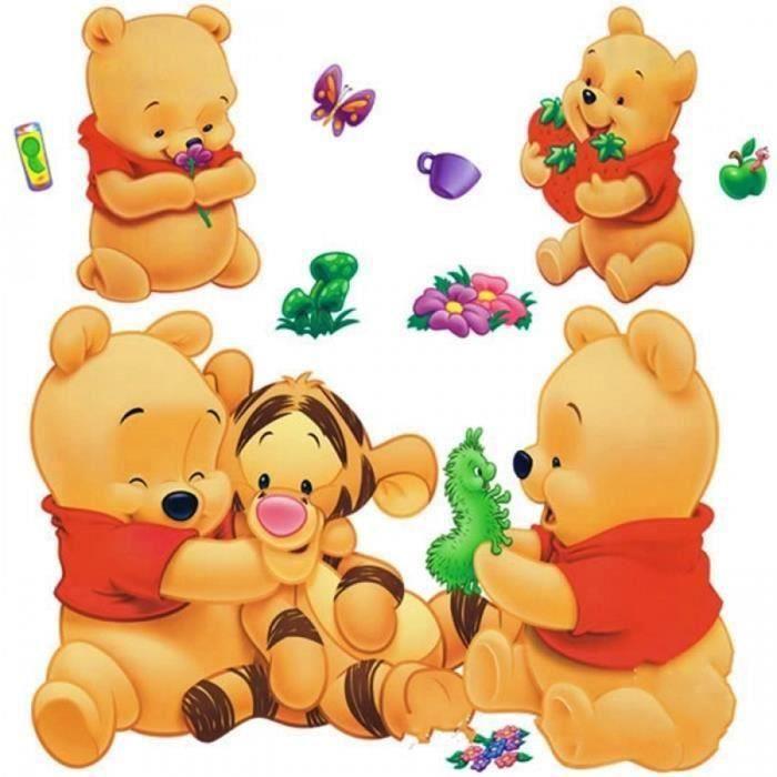 Dessins Animés Animaux Winnie l'ourson Vinyle Stickers Muraux Pour Enfants Chambres Garçons Filles Canapé Décoration Enfant