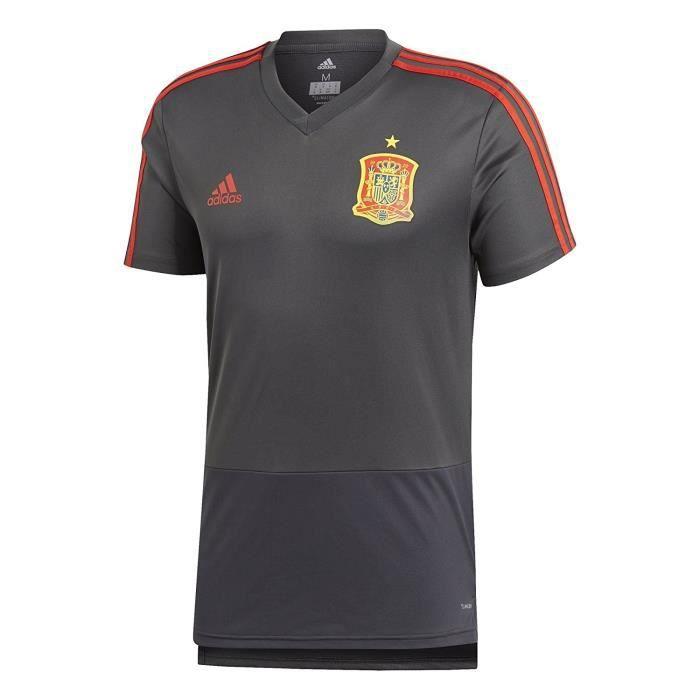 ADIDAS Maillot de Football FEF Espagne Training Jersey - Homme - Noir et Rouge
