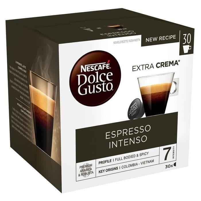 LOT DE 6 - Dolce Gusto - 30 Capsules de café Espresso Intenso 250 g
