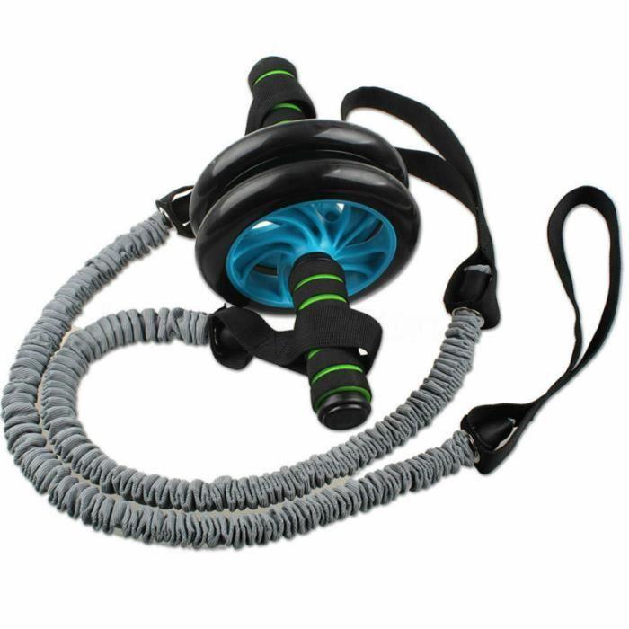 Roue abdominale Tirez la roue de corde à auxiliaire de courroie de de de de appareil abdo - planche abdo fitness - musculation