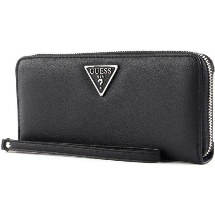 GUESS Ambrose SLG Large Zip Around Wallet Black [121201] - porte-monnaie porte monnaie