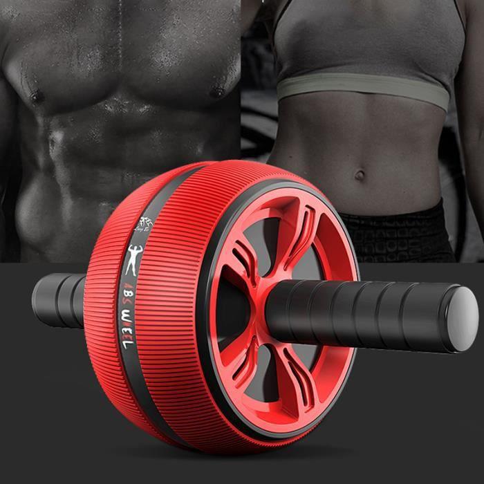 ABS roue d'exercice de rouleau abdominale équipement de remise en forme de rouleau silencieux Envoyer Tapis de fitness