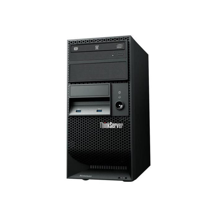 Lenovo ThinkServer TS150 70LV Serveur tour 4U 1 voie 1 x Pentium G4400 - 3.3 GHz RAM 8 Go aucun disque dur graveur de DVD HD…