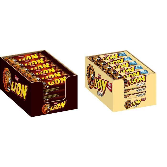 Nestle Lion 24 x 42g + Nestle Lion White 24 x 42g Barre de chocolat