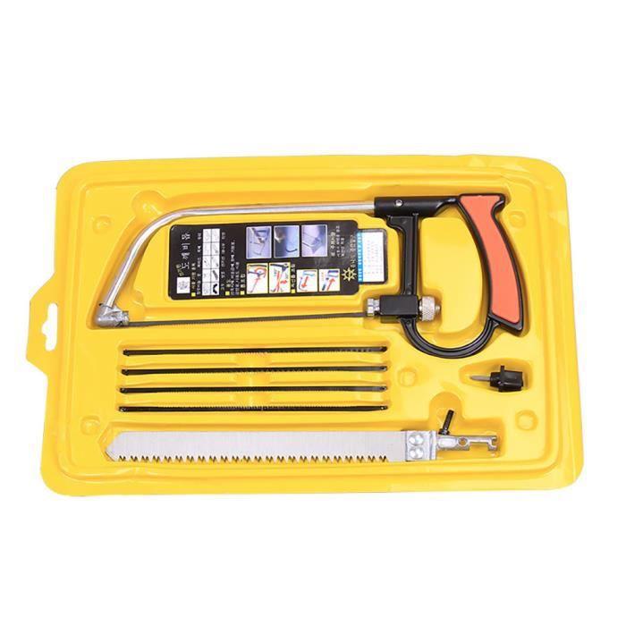10 pcs multifonctions Lames de ménage manuelle Scie à métaux Outil de travail du bois pour couper en PVC//aluminium/verre/plastique