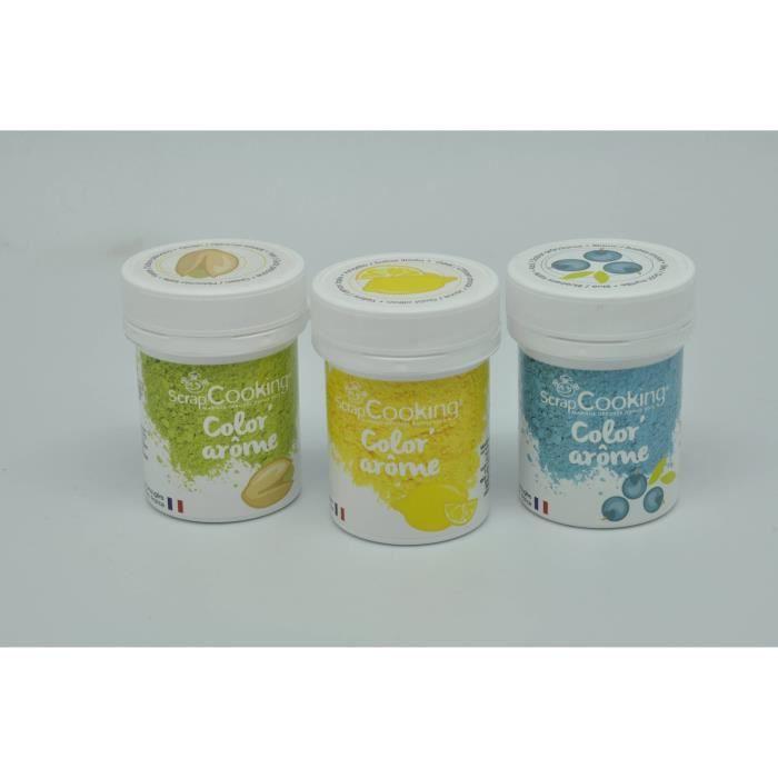 Color' arôme myrtille citron pistache 3 pièces - Scrapcooking Multicolore - Assort.