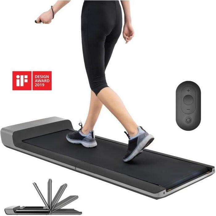 Skandika Walkingpad - Tapis de Marche Course - Jusqu'à 6km-h - Pliable - roulettes de Transport - Max. 100 kg - Prix pour Le Design