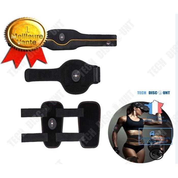 TD® Appareil Abdominal Ceinture abdominale Electrostimulateur Musculaire muscle USB de Charger mince jambes bras Fitness Entraînemen