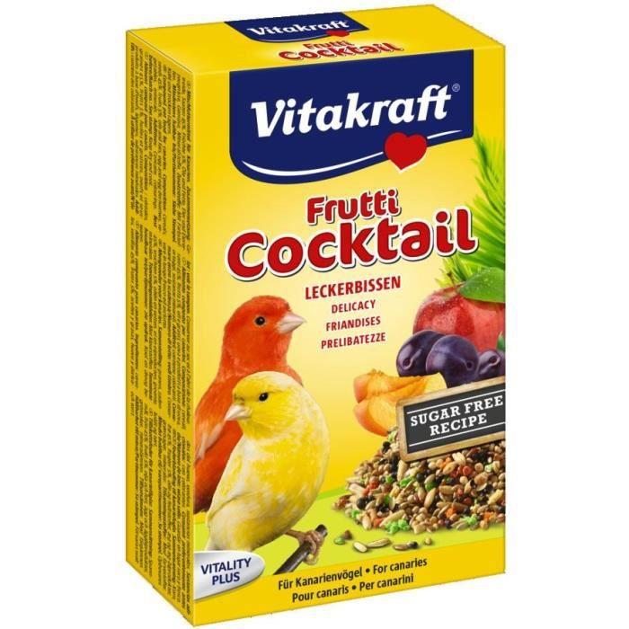 VITAKRAFT Cocktail Fruits - Pour canaris - 200 g