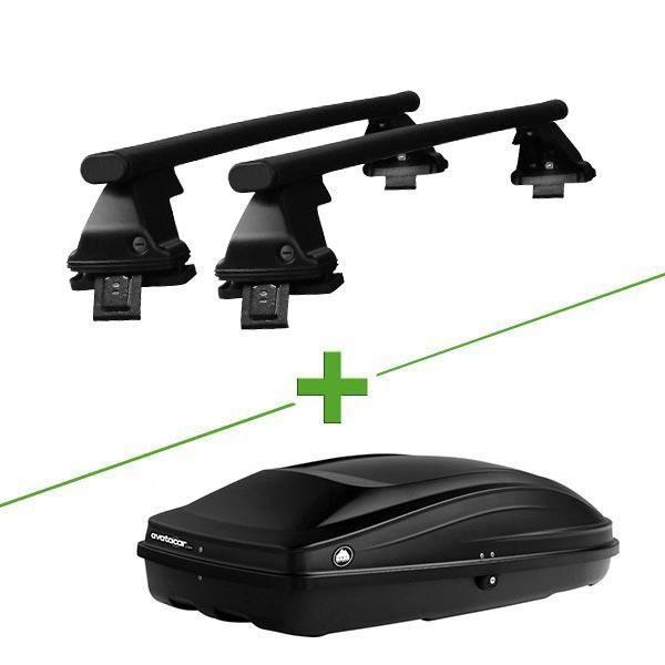 Pack barres et coffre de toit WABB Freedom Acier + Wabb S pour Ford Fiesta V 3 portes - 3664956505827