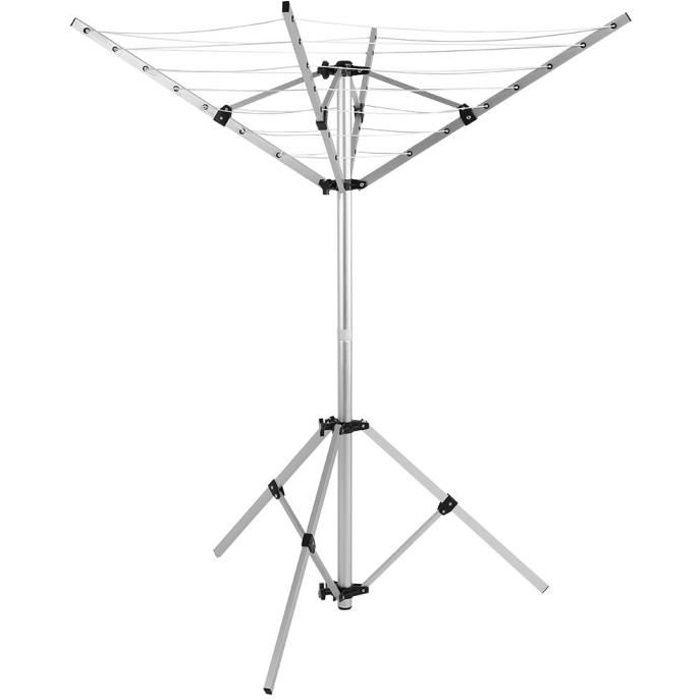 FIL À LINGE - ÉTENDOIR Séchoir à Linge Parapluie Pliant Réglable Etendoir