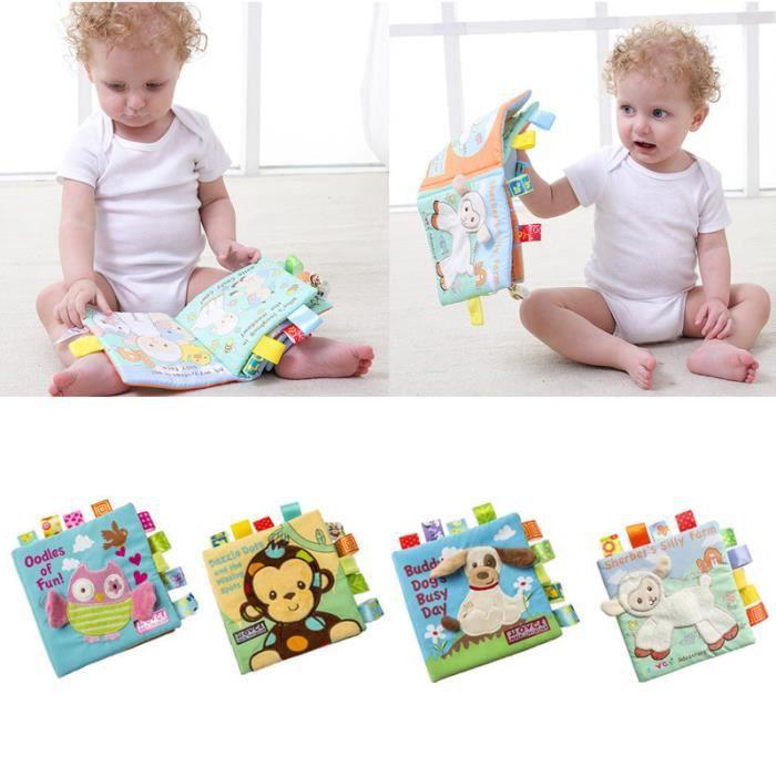 Livre Eveil Bebe D Activite En Tissu Animal Anglais Jouet Educatif Cadeau Pour Nouveau Ne Enfant