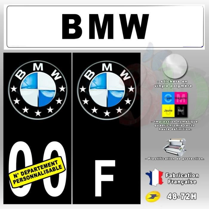stickers plaque d 39 immatriculation 39 bmw 3d 39 auto moto fond. Black Bedroom Furniture Sets. Home Design Ideas