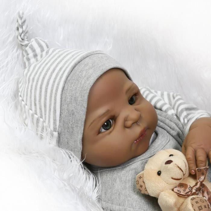 RainbowBeauty 1pc 12 Pouces Poupée Africaine, Poupée Noire Simulation de Jeu pour bébé Poupées