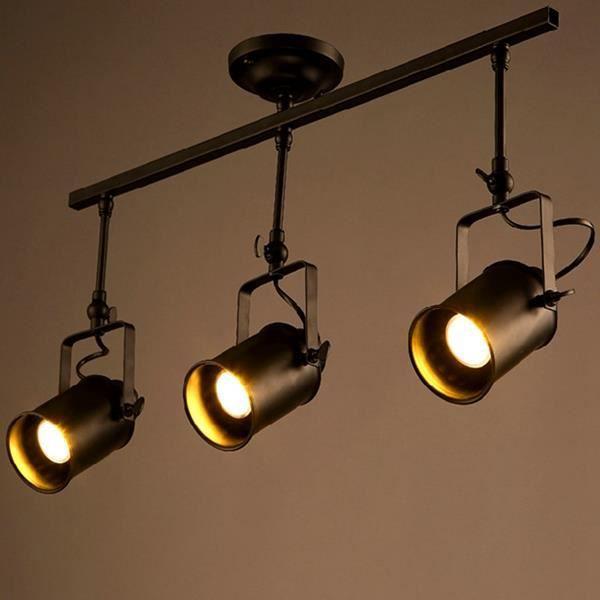 Mezzanine cru LED éclairage sur rail têtes triples mettent ...