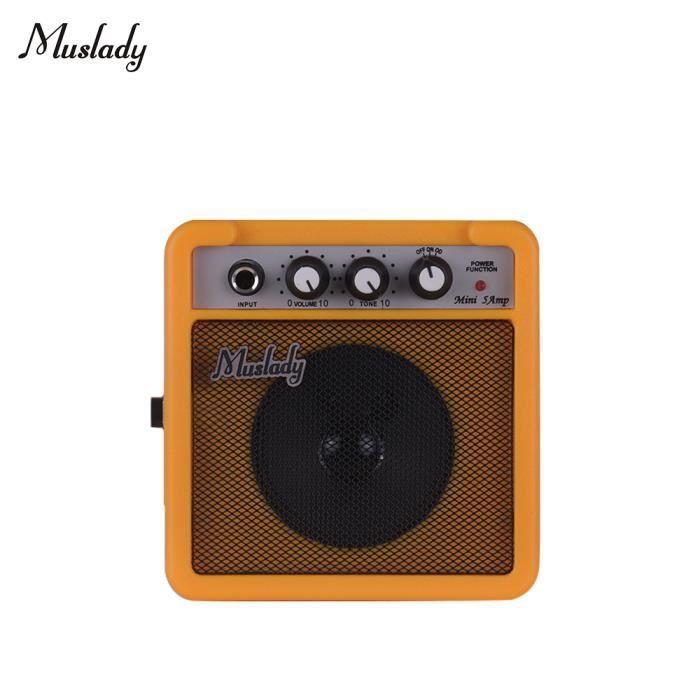 AMPLIFICATEUR Ampli amplificateur de guitare Muslady 5W avec ent