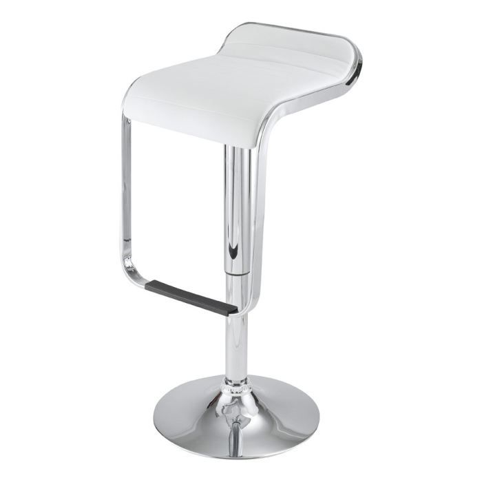 tabouret de bar blanc maud id 39 clik achat vente. Black Bedroom Furniture Sets. Home Design Ideas
