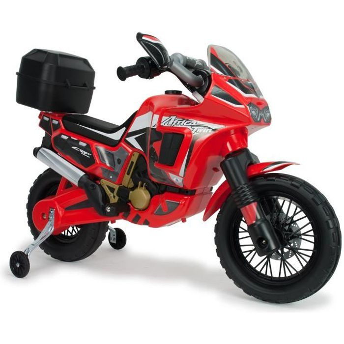 injusa moto lectrique enfant honda africa twin 6v rouge volts achat vente moto scooter. Black Bedroom Furniture Sets. Home Design Ideas