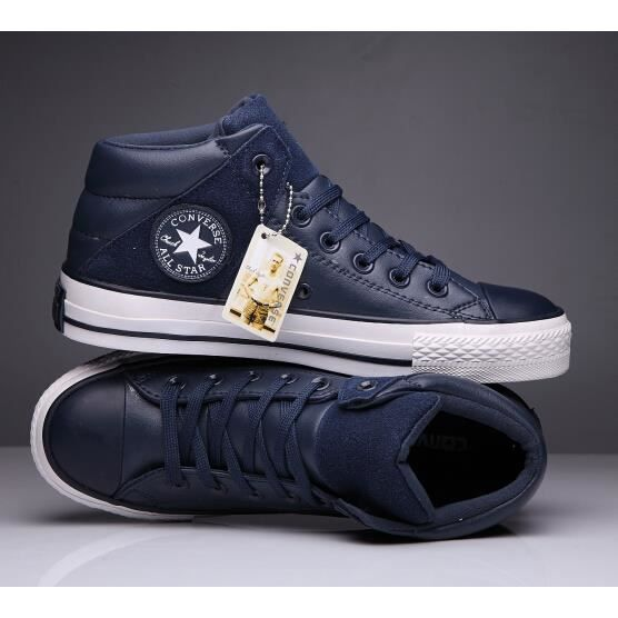 Converse ALL Star Homme Chuck Taylor Mid lace up Basket Chaussures bleu
