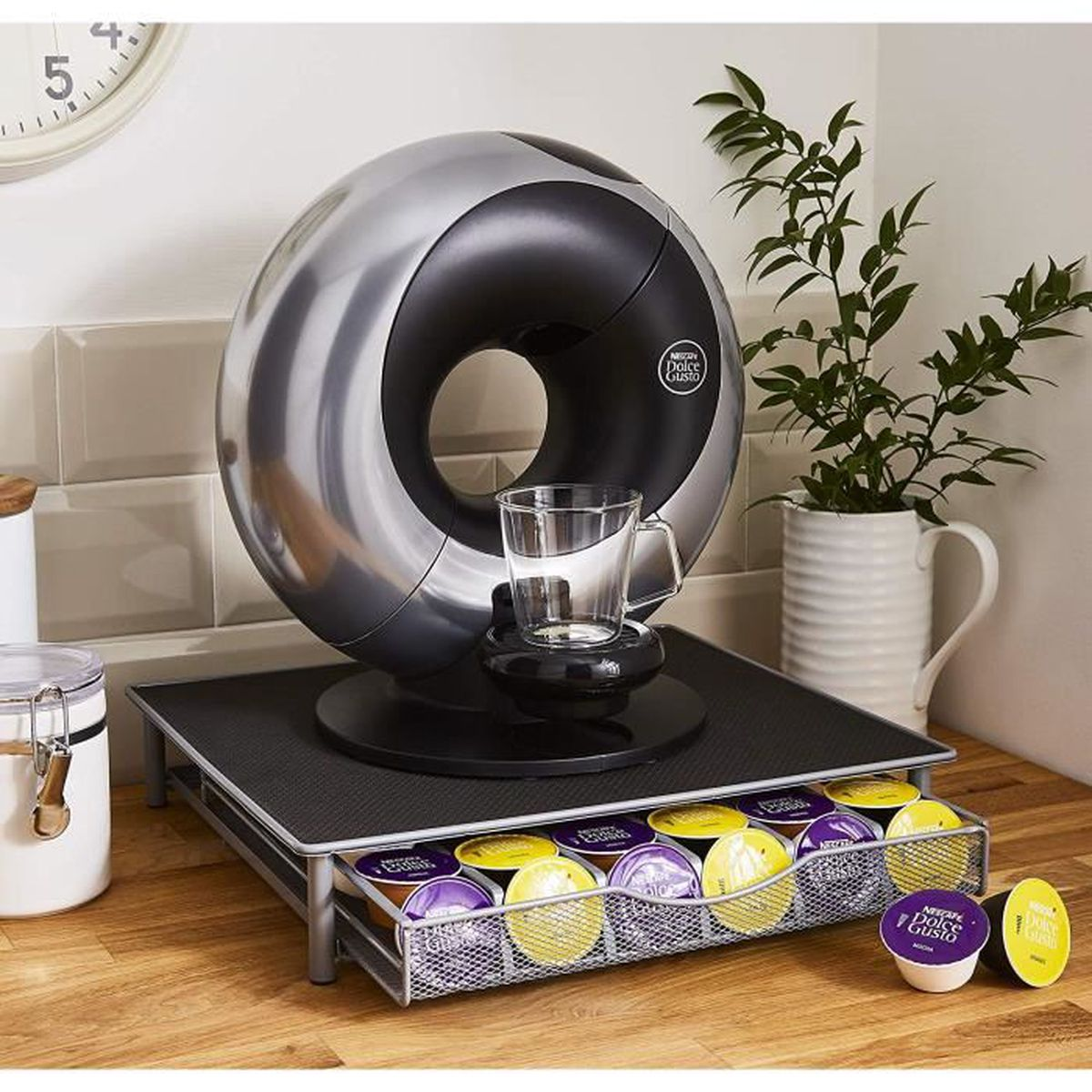 Tiroire Rangement Capsules Compatibles Dolce Gusto Achat Vente Cafetiere Theiere Cdiscount