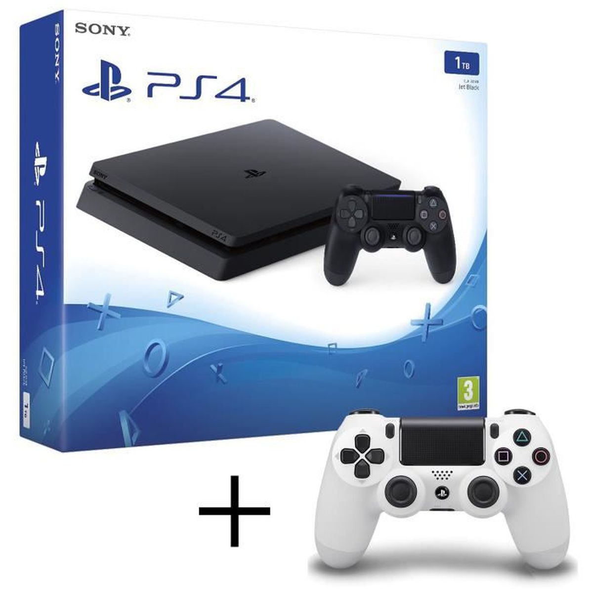 CONSOLE PS4 PS4 Slim 1to + playstation 4 manette Dualshock 4 b
