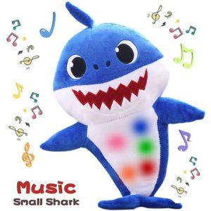 Requin De B/éb/é Officiel Chanter En Peluche Yellow Enjoyfeel Doux Musique Sonore B/éb/é Poup/ée En Peluche Peluche Jouets Chanter Chanson Anglais pour Gar/çon Fille