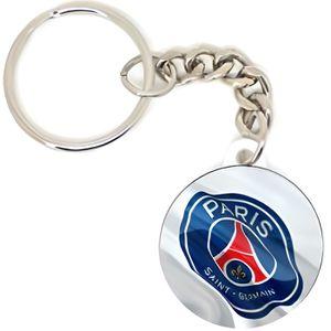 Porte-Clés Paris Saint-Germain Luxe /'Ballon de Foot/' Officiel Bleu PSG