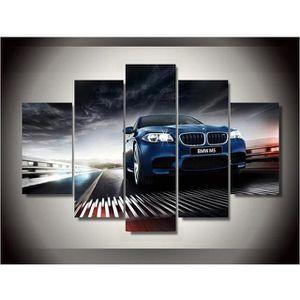 TABLEAU - TOILE Toile peinture 5 panneaux imprimés BMW modèle de v