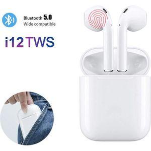 CASQUE - ÉCOUTEURS i12 TWS Paire Ecouteur Bluetooth Sans Fil Casque T