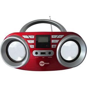 RADIO CD CASSETTE MPMAN BBOX64USB Radio CD - Rouge et argent