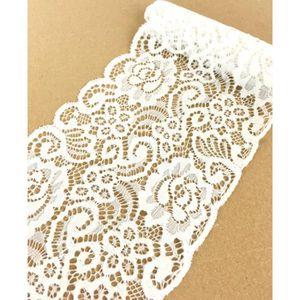 TULLE - NOEUD - RUBAN Ruban dentelle élastique motif floral 150mm x 1m B