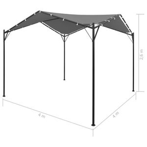 Tidyard Tonnelle De Jardin Tente De Réception Belvédère En Acier Et Tissu Oxford 4 X 4 M Pour Barbecues Pique Niques Camping